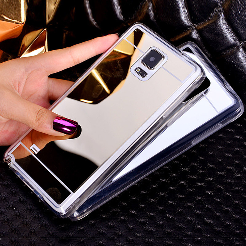 Rose Gold Luxury Bling Case For Samsung Galaxy Grand Prime S3 S6 Edge Note 3 Ultra Slim Electroplate Soft TPU Clear Mirror Cover