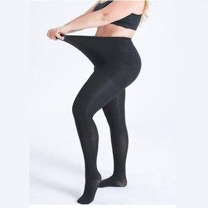 Image 2 - Весенние женские леггинсы, Леггинсы больших размеров, черные леггинсы телесного цвета с ребрами и высокой эластичной талией, одежда для женщин 6XL