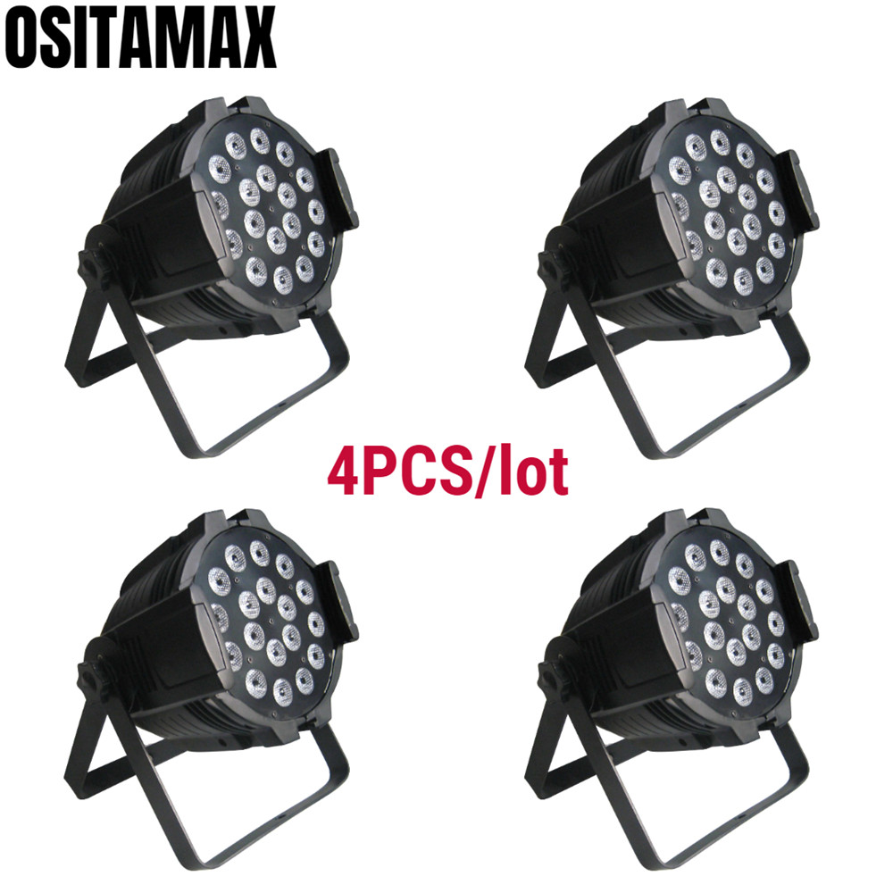 4 pçs/lote 18x15w rgbwa interior IP33 latas par led dmx par can iluminação 18x15w led dmx par 64 18x15w latas par dj levou luz de discoteca par