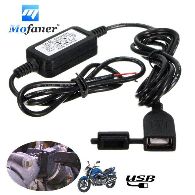 Waterdicht Moto USB Charger DC 12 V Vers 5 V Adaptateur Voeding Pr Telefoon GPS Voor Motorfiets