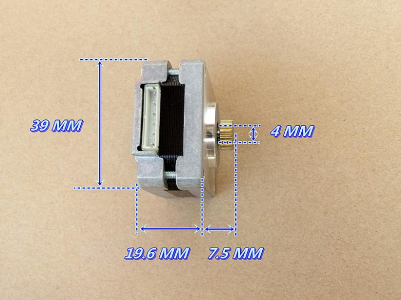 High Precision 39BYG 4 Phase 5 line Hybrid Stepper Motor With Double Ball Bearing 1000 g/cm 1.8-degree Stepper Angle цена