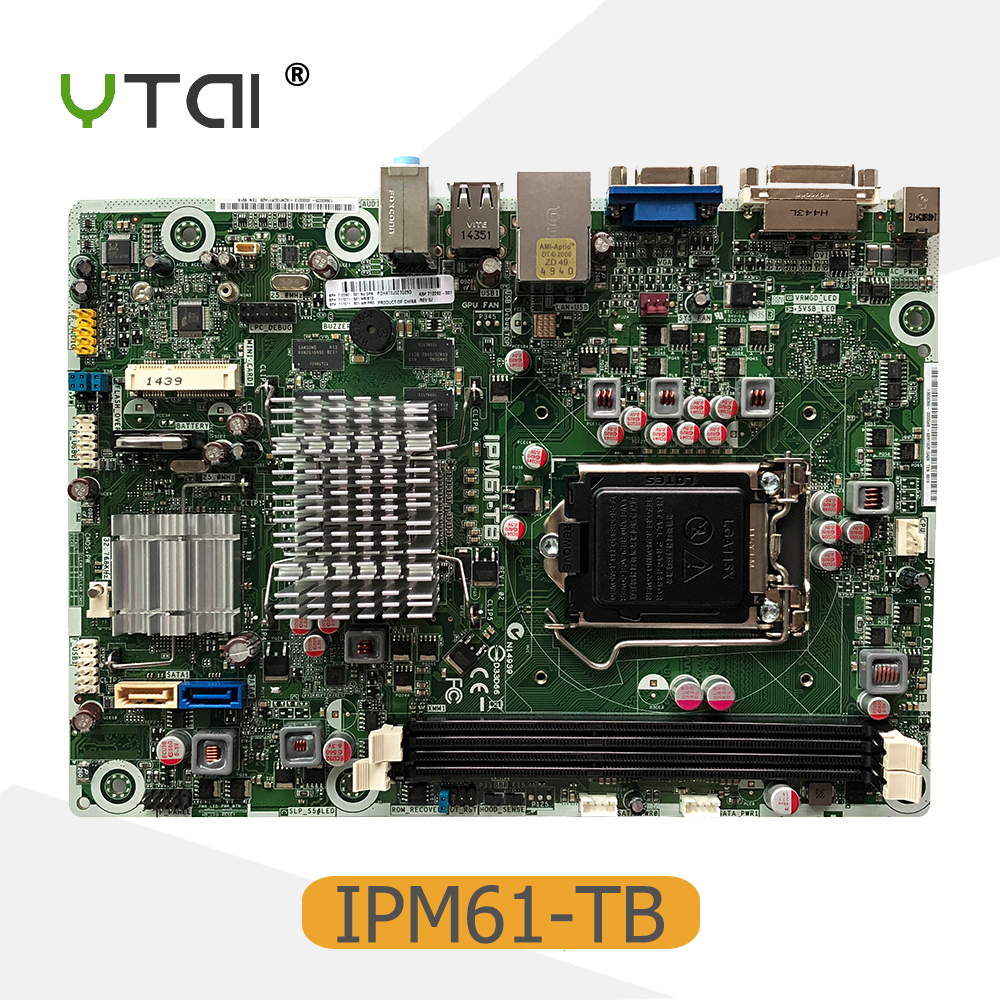 YTAI For HP IPM61-TB Desktop Motherboard LGA 1155 H61 717071-501 712292-001 mainboard fully tested 744008 001 744008 601 744008 501 for hp laptop motherboard 640 g1 650 g1 motherboard 100% tested 60 days warranty