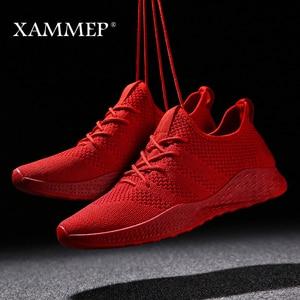 Image 3 - Кроссовки Xammep мужские сетчатые, повседневные брендовые сникерсы на плоской подошве, лоферы без застежки, дышащие, большие размеры, весна/осень/зима