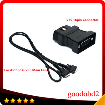 For Autoboss V30 16Pin OBDII Diagnostic Adapter Scanner Car Diagnostic OBD2 Connecter Connector 16pin Connector +V30 Main Cable v30 page 6