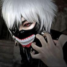 New Version Luxury LATEX Tokyo Ghoul Ken Kaneki mask with Adjustable Zipper Japan Anime cosplay accessory halloween prop gift