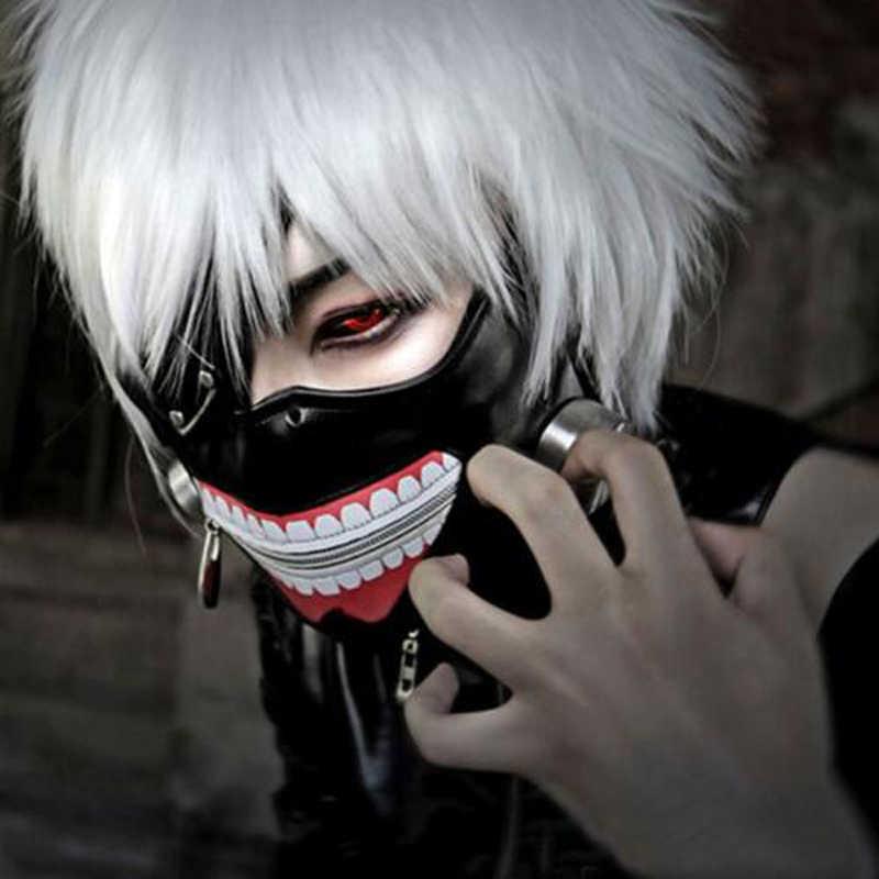 Phiên Bản mới Sang Trọng CAO SU Tokyo Ghoul Kaneki Ken Mặt nạ Có Thể Điều Chỉnh Dây Kéo Anime Nhật Bản cosplay phụ kiện Halloween chống đỡ Tặng