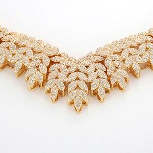 Image 4 - Hadiyana Trendy Noble Micro Pave Cubic Zirconia Dubai Jewelry Sets Latest Luxury Bridal Wedding Jewelry Set For Women TZ8025
