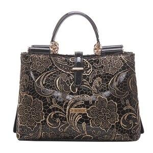 Новая женская кожаная сумка, кружевная сумка на плечо, вместительная сумка-мессенджер, модная сумка-тоут.