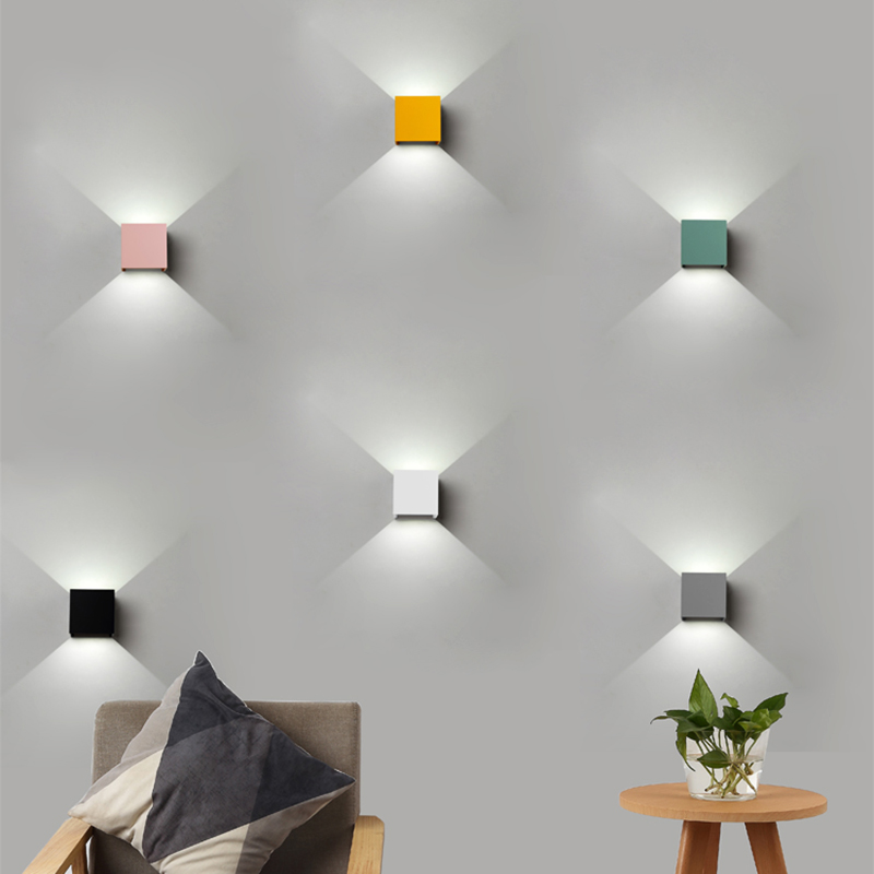 Wall Light Colorful Macaroon Plating Iron Cover LED Sconce Light Hallway Coffee Shop Indoor Outdoor lighting Adjustable aWall Light Colorful Macaroon Plating Iron Cover LED Sconce Light Hallway Coffee Shop Indoor Outdoor lighting Adjustable a