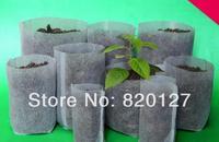 Size10cm * 10 cm no tejido de la tela de vivero bolsa semillero bolso, 100 unids/lote