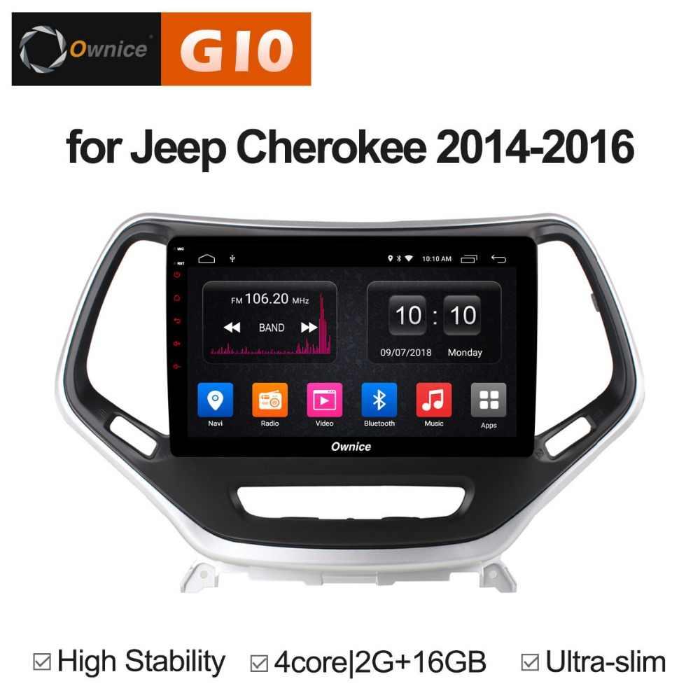 10.1 inch Android 8.1 Quad Core 2 gb RAM + 16 gb ROM Xe DVD Player đối với Jeep Cherokee 2014 -2016 GPS Đài Phát Thanh Stereo TPMS DAB