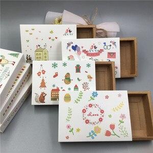 Image 1 - 새로운 핫 크래프트 종이 골판지 서랍 일치 포장 상자 웨딩 파티 사탕 상자 사랑 크리스마스 수제 선물 상자