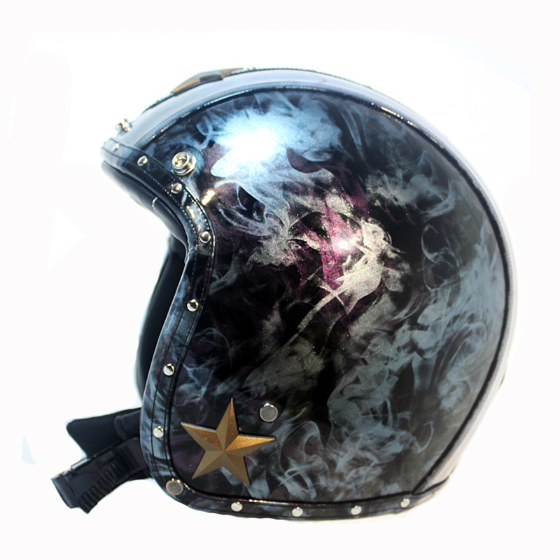 Harley Motorcycle Helmets 3/4 Chopper Bike helmet open face vintage motorcycle helmet retro capacete motociclistas capacete 2017 new ece certification ls2 motocross motorcycle helmet ff352 full face motorbike helmets made of abs and pc silver decadent