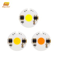 LED COB Chip Smart IC Light 3W 5W 7W 9W 12W 220V Day Cold Warm White Grow Light For DIY LED Spotlight Floodlight No Need Driver(China)