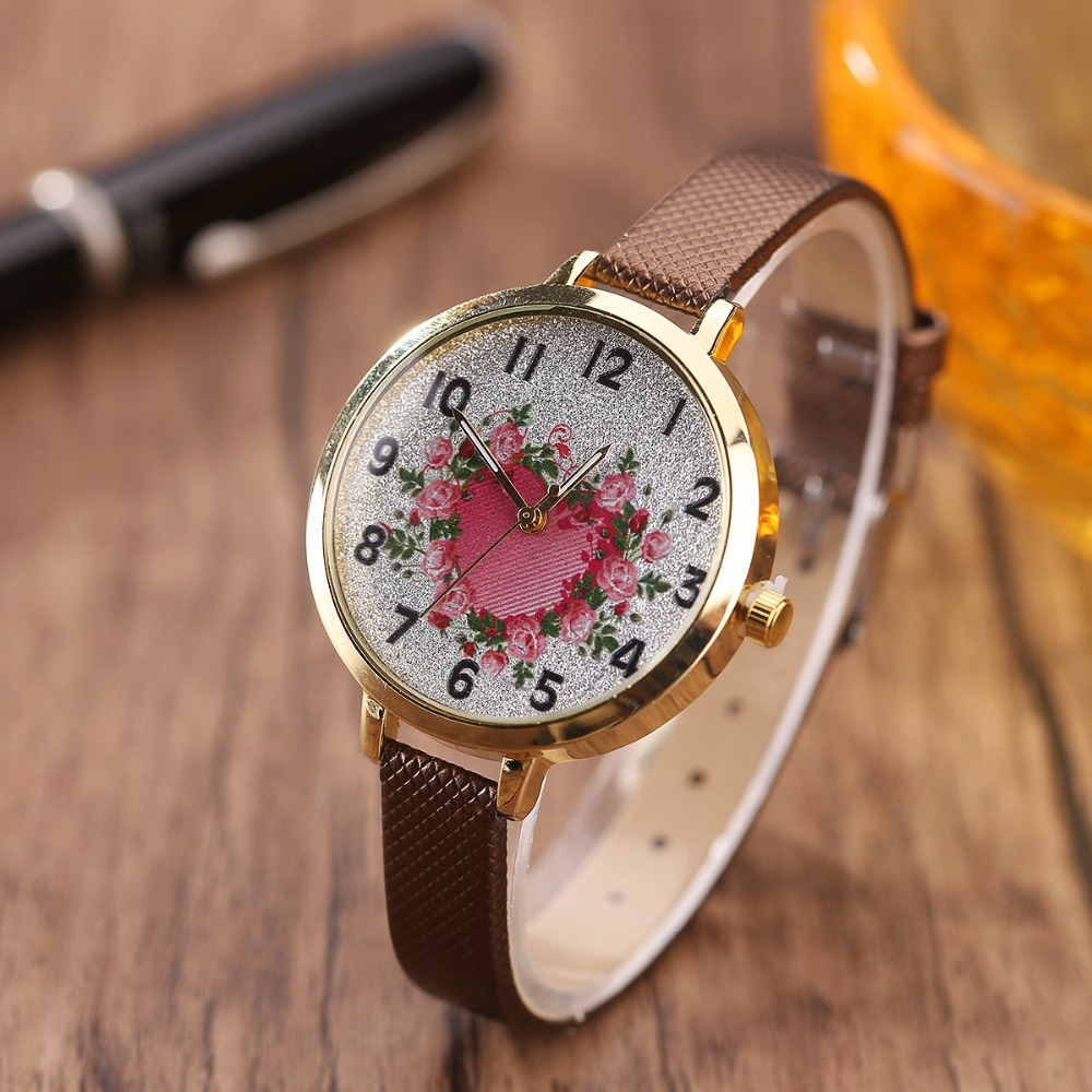 ladies show from quartz color on women fashion brand s reloj in leather item luxury strap watch mujer beautiful watches