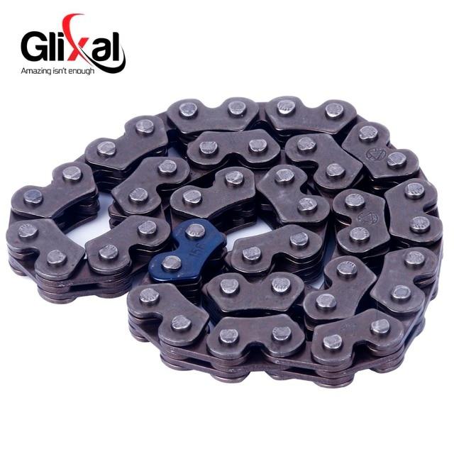 Glixal-chaîne de pompe à huile GY6 | 125cc 150cc à 44 maillons, chaîne de pompe pour 152QMI 157QMJ Scooters chinois mobylettes ATV Go Kart Quads Engine