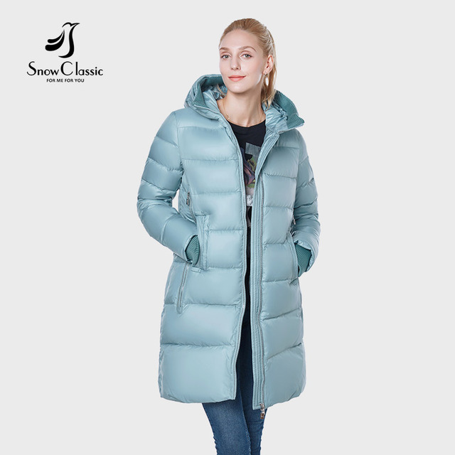 SnowClassic Новый 2018 куртка женская camperas mujer abrigo invierno пальто женщин парка Icepeak толстые деталь украшения Европейский дизайн