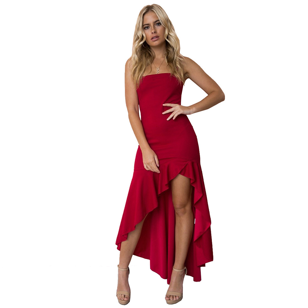 Cocktail Dresses New Elegant A Line Spaghetti Straps High Low Wedding Party Gowns 2018 Vestidos De Graduacion