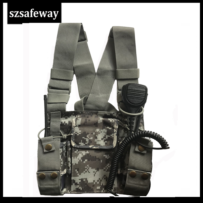2020 NEW ARRVIAL Adjustable Nylon Walkie Talkie Pouch Chest Backpack Bag Holder Carrying Case For Different Two Way Radio