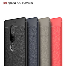 Carbon Fiber Cover Case For Sony Xperia XZ2 Premium Silicon Soft Cases Coque Etui Fundas Accessory