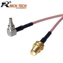 100 pcs/lot SMA zu CRC9 RG316 RF Kabel Sma-buchse zu CRC9 Männlichen Rechten Winkel RF Koaxial kabel Zopf 15 cm/50 cm/100 cm(China)