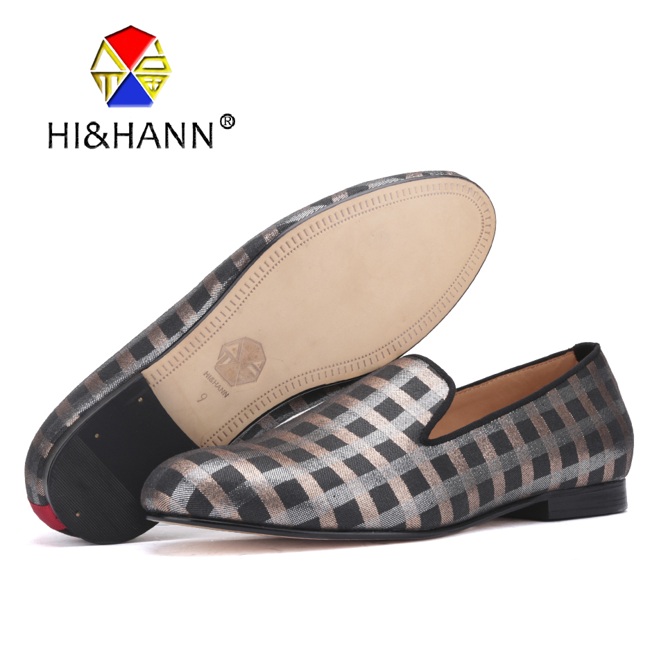 890c247abf54 US $198.0 |HI&HANN luxurious Handmade men loafers with Genuine Leather  insole and bottom Party and Banquet men dress shoes male's flats-in Men's  ...