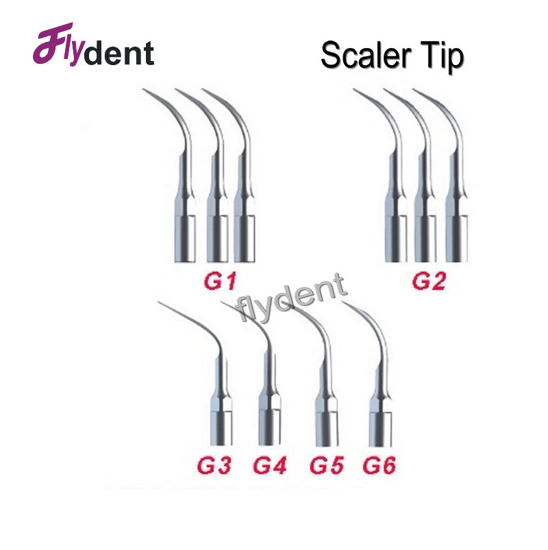 dental ultrasonic piezo scaler tip mixed for EMS/Woodpecker scaler handpiece for oral health care and teeth whitening 10pcs 1pcs dental heated tip dental pen heated tip needles for endodontic root obturation endo systemteeth whitening