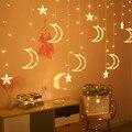 3 5 м Гирлянда для занавесок  светящаяся в полдень звезда  светодиодная сказочная гирлянда  Рождественская гирлянда  световая лампа для укра...