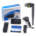 Decodificador de tv Digital por satélite Freesat powervu V7 HD DVB-S2 hd soporte completo, cccam, youtube, youporn y 3G vía 5370 wifi USB