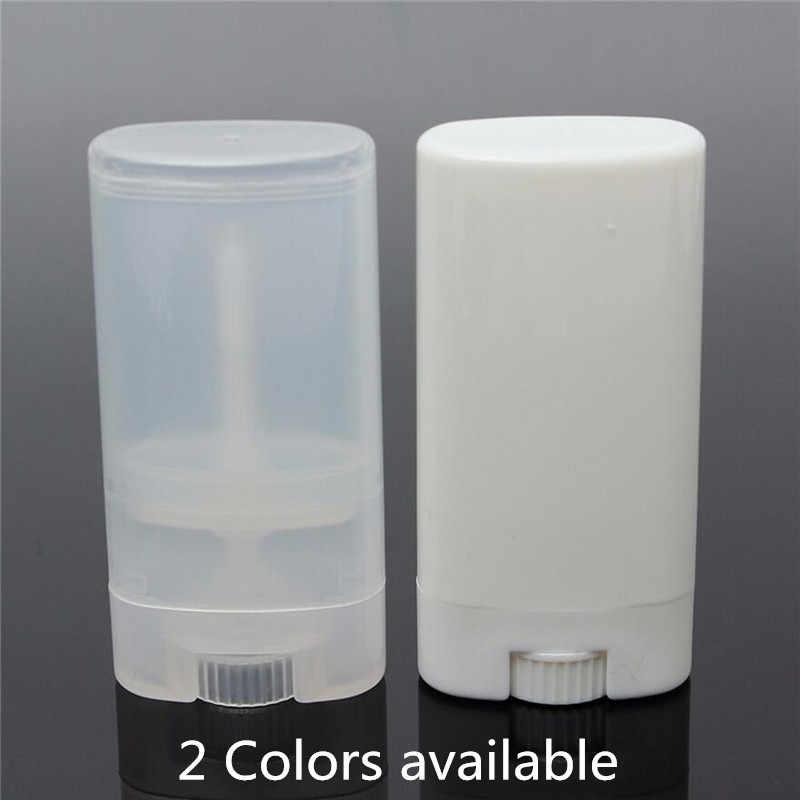 b3e041d64e2d 10Pcs/lot Lip balm containers about 20ml Plastic Bottles Empty DIY Oval Lip  Balm Tubes Deodorant Clear White Lipstick Lip Tube