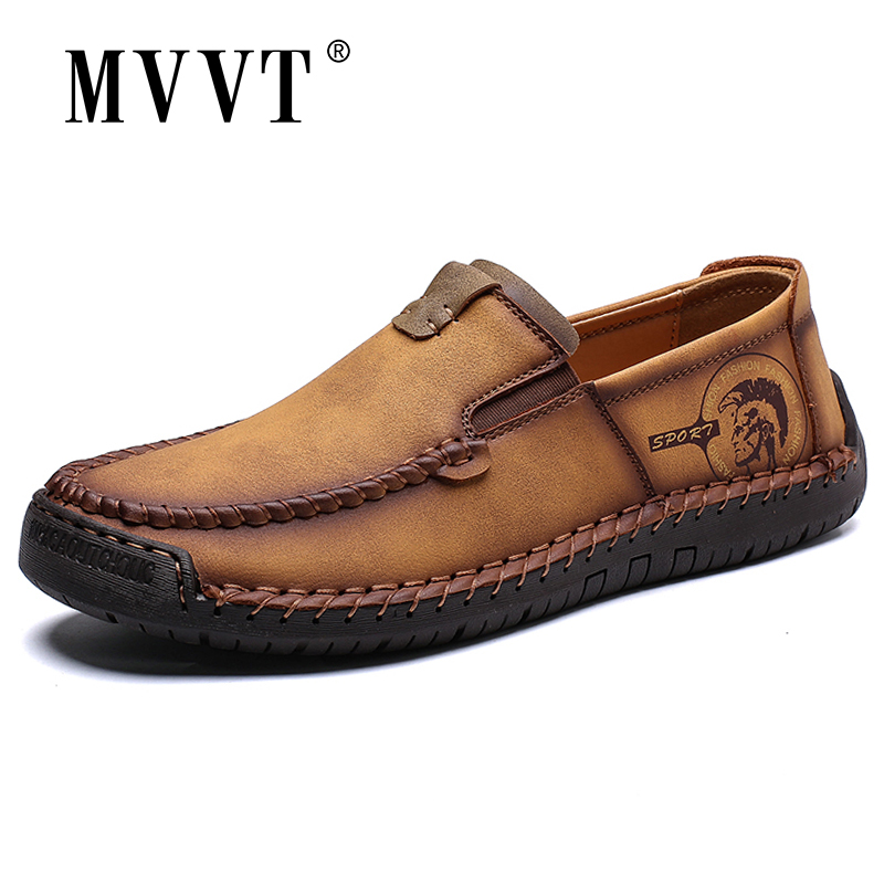 Classic Comfortable Men Casual Shoes Slip On Loafers Men Shoes Split Leather Shoes Men Flats Hot Sale Moccasins Shoes Plus Size
