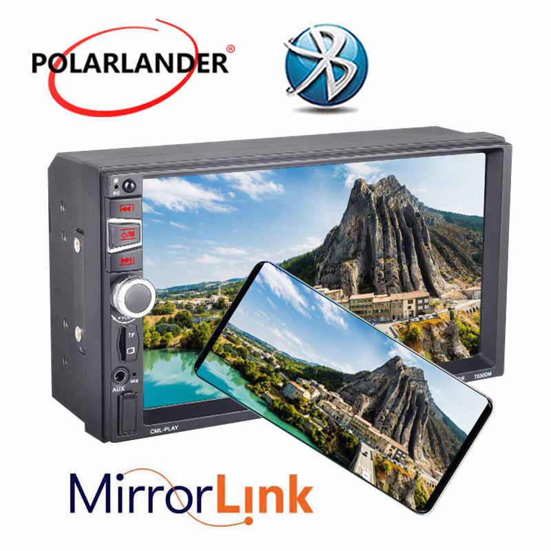 7''2Din auto Radio estéreo/FM/TF/USB/AUX Bluetooth MP5 enlace espejo para Android GPS