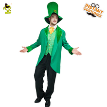 Adult Men Leprechaun Costume Imitation Magic Green Outfit For Halloween Party Cosplay Lucky Fairy Leprechaun Costumes  sc 1 st  AliExpress.com & Buy leprechaun costume and get free shipping on AliExpress.com