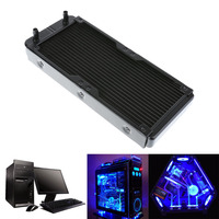 240mm 18 Tubes Aluminum Computer Water Cooling Radiator With Screws Heat Sink Part Exchanger CPU Heat