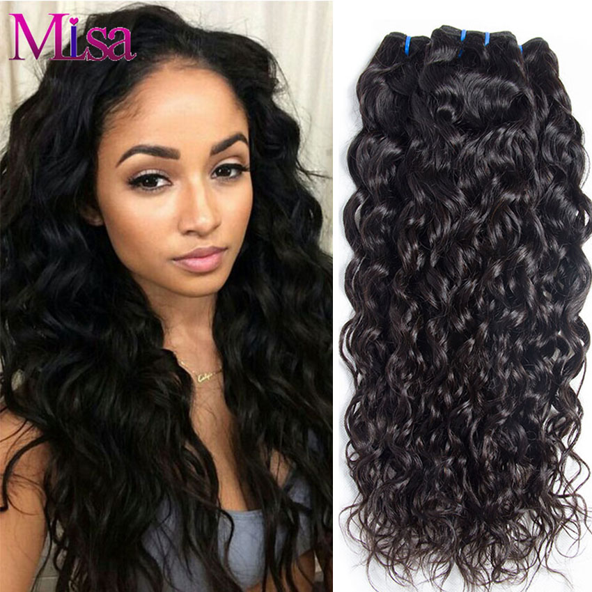 Mi Lisa Peruvian Hair Bundles Water Wave 100% Human Hair