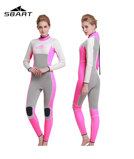 SBART 3MM Neoprene Women Men's Wetsuit One Piece Swimsuit Diving Surfing Wetsuits Spearfishing Wetsuit Full Body Swimwear sbart upf50 rashguard 2 bodyboard 1006