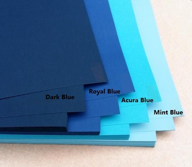 230gsm Size A4 Blue Matte Cardstock Thick Card Papers For Scrapbook Paper Craft Cardmaking 10/20 You Choose