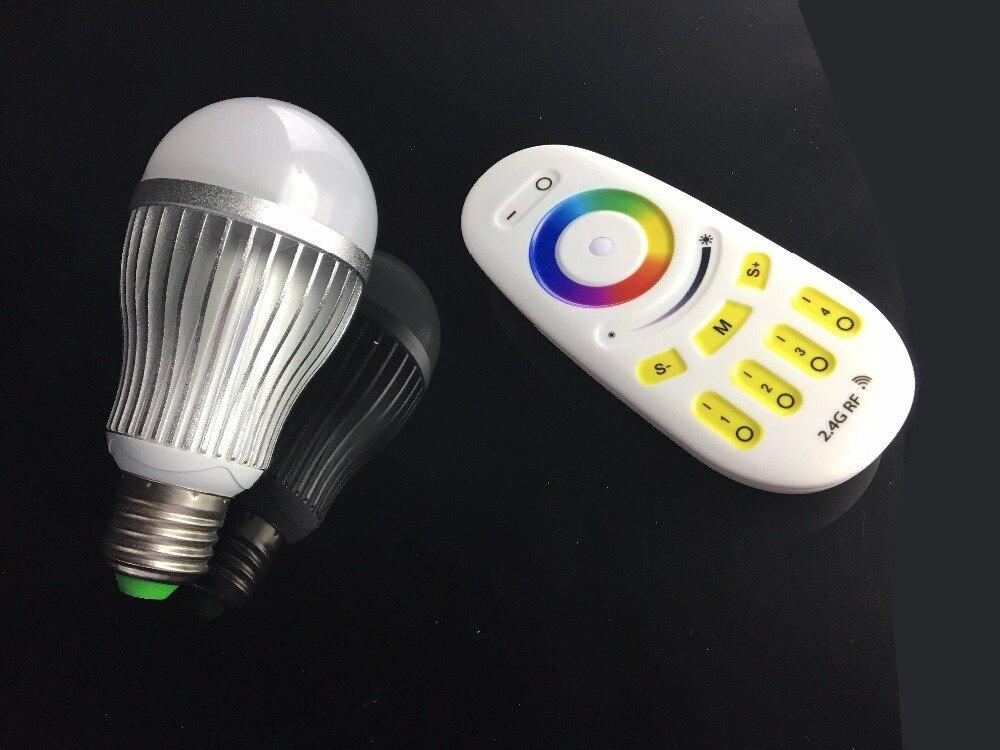 √2.4g rf 9 w rgbw lâmpada led alumínio plástico jm qp02 a783
