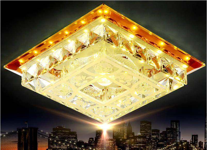 15W Crystal Led ceiling lights restaurant aisle living room balcony lamp modern led lighting for home decoration luminaire modern multicolour crystal ceiling lights for living room luminarias led crystal ceiling lamp fixtures for bedroom e14 lighting