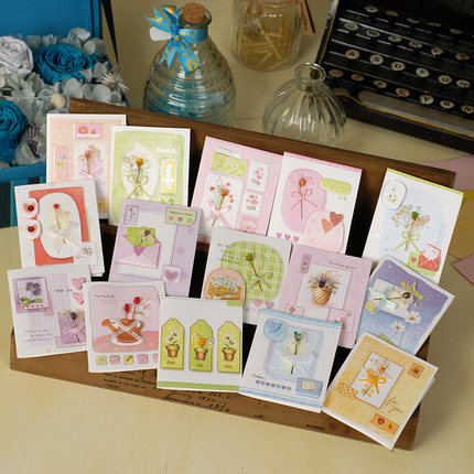 mini handmade cards kids birthday greeting cards gift message invitation cards valentine party favor