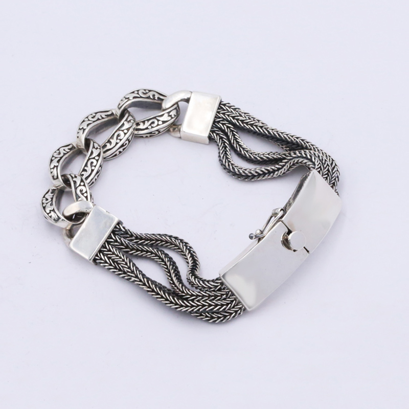 20cm Long 925 Sterling Silver Friendship Bracelet Men Jewelry 13mm Wide Weave Bangle Bracelet Women Gift Fine Jewelry B16 925 silver bracelet men friendship bracelets 20cm mens jewellery 11mm