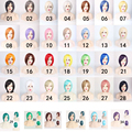 """35cm / 14"""" BOB Short Straight Women's Party Cosplay Wig Full Bangs Hair 34 Color"""