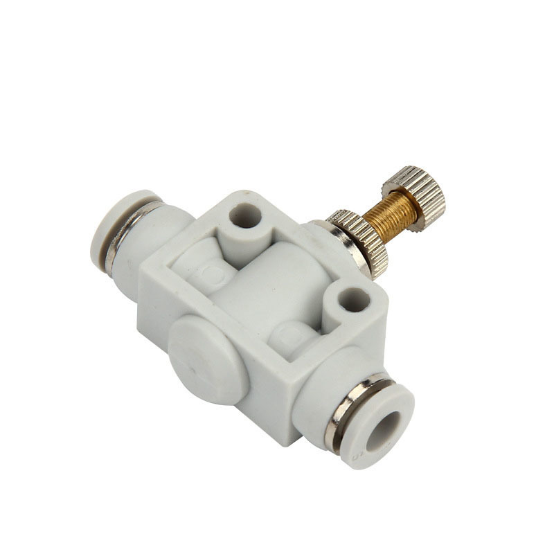 Free shipping OD4-12MM Pneumatic element throttling joint type high quality straight through white throttle PA valve