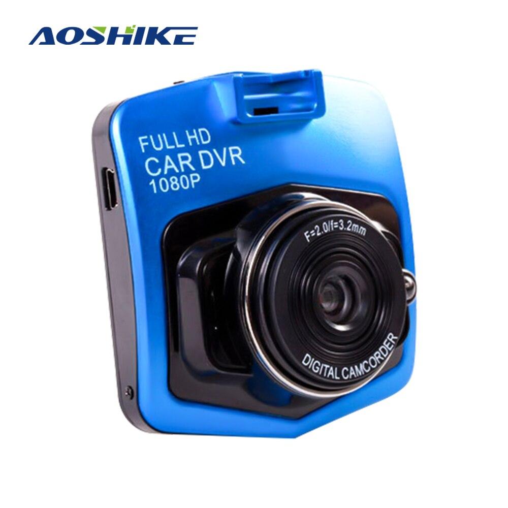 Aoshike Novo Original Mini Car Dashcam DVR SD Câmera 1080P Gravador Gravador De Vídeo G-sensor de Visão Noturna Traço câmera