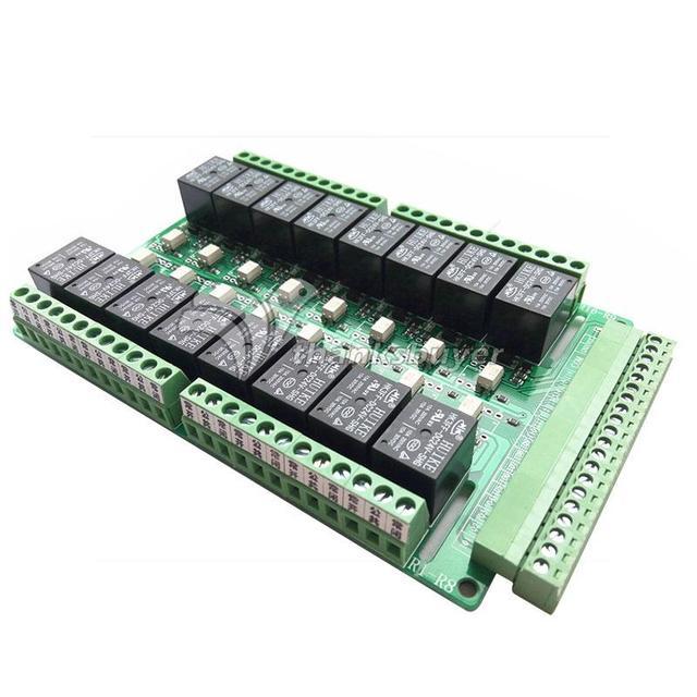 16 Channel Relay Module Control Shield Controller 5V 12V 24V PLC Driver Board
