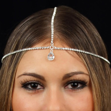 Women Fashion Metal Rhinestone Head Chain Jewelry Headband Head Piece Hair Band 2017 Useful