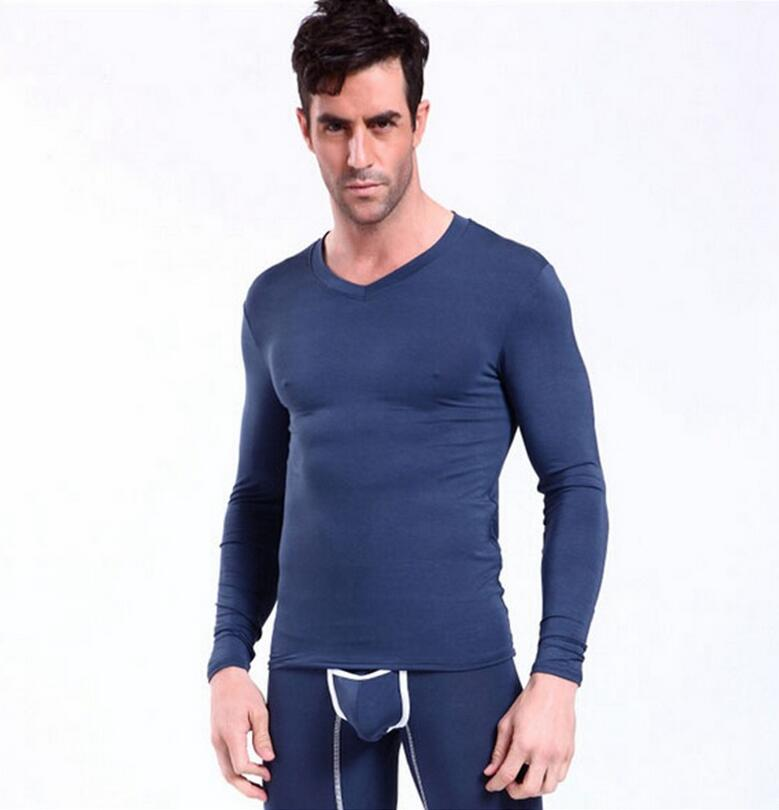 2017 Direct Selling Promotion Lycra Cotton Mens Long Johns Sexy Thermal  Underwear Sets Men Winter Warm Fleece Free Ship \u0026 Drop -in Long Johns from  Men\u0027s ...