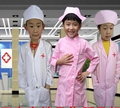 Nurse Uniform for kids performance nurse costume chidren special clothing set with cap doctor costume