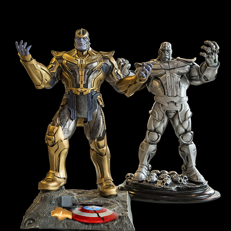 [New] Large 35cm Avengers 3 Infinity War Thanos Gauntlet model Action Figure Collection Super Hero statue Toy Iron man Kids Gift [funny] hot infinity gauntlet thanos gem gloves model avengers infinity war action figure toy resin decoration collection model