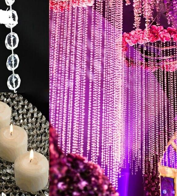 Acryl Kristall Perlen Kette Hängen Perle Vorhang Garland Blumen Kronleuchter  Decor Hochzeit Geburtstag Party WEIHNACHTEN Festliche